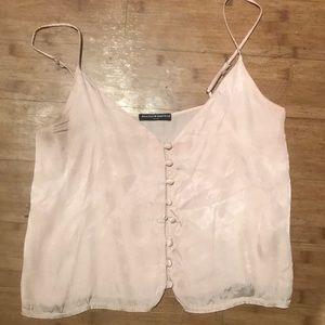 Brandy Melville Silk Tank *broken button*
